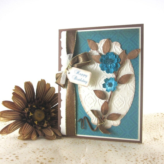 Elegant Birthday card, personalized, feminine, female, woman, women, friend, sister, mother, grandmother
