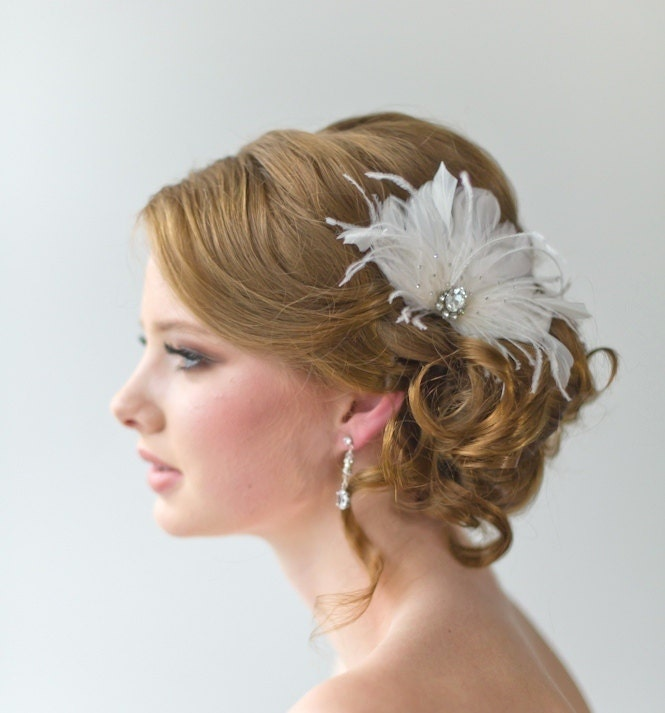 Bridal Fascinator Wedding Hair Accessory By PowderBlueBijoux