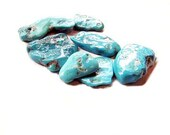 Turquoise Stone Chunks Sleeping Beauty Turquoise Wire Wrapping