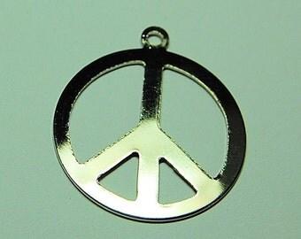 Large Peace Symbol Charm