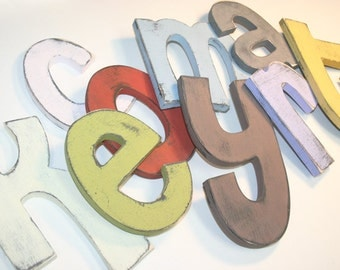 6 Inch Painted Wooden Wall Letters