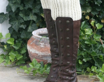 CROCHET PATTERN -  Ribbed Boot Cuff --- (Matches The Ribbed Ear Warmer Headband)
