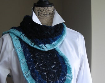 Gradient Lace Scarf Shawl Knitting Pattern PDF - Crape Myrtle Shawl - spring scarf cowl wrap -  pattern for sock fingering lace yarn