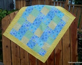 Reserve listing for Daphne Only-Baby Boy Patchwork Quilt Flannel Blue,Yellow and Green