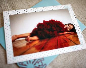 SALE - Polka Dot Snowflake Letterpress Photo Cards