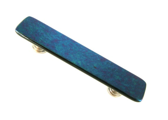 Iridescent Glass Drawer Pull for Kitchen, Bathroom, and Furniture Designs