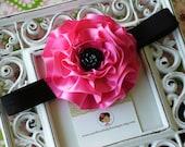 NEW ITEM----Boutique Baby Girl Toddler Satin Flower Headband-----KILY