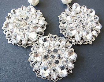 Bridesmaid Jewelry Set Wedding Necklace Wedding Jewelry Rhinestone Bridal Necklace Bridal Jewelry Flower Necklace