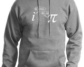 Be Rational Get Real Mens Funny Math Nerd HOODIE (Heather Grey- White Ink) SMALL-XXL