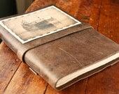 Leather Journal - Large Handmade Ore Ship Journal - Rustic Sketchbook