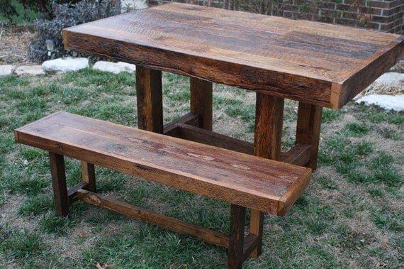 Custom Rustic Reclaimed Barn Wood Farmhouse Dining Table or Conference Table with FREE SHIPPING-BWFDT1300F