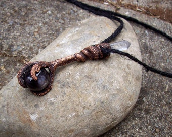 Claw and Star Sapphire copper pendant SALE