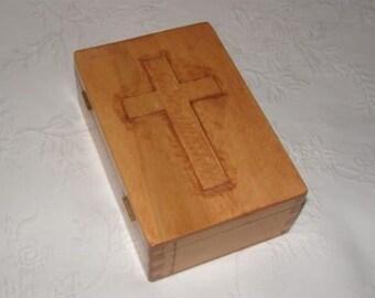 Carved Cross Box