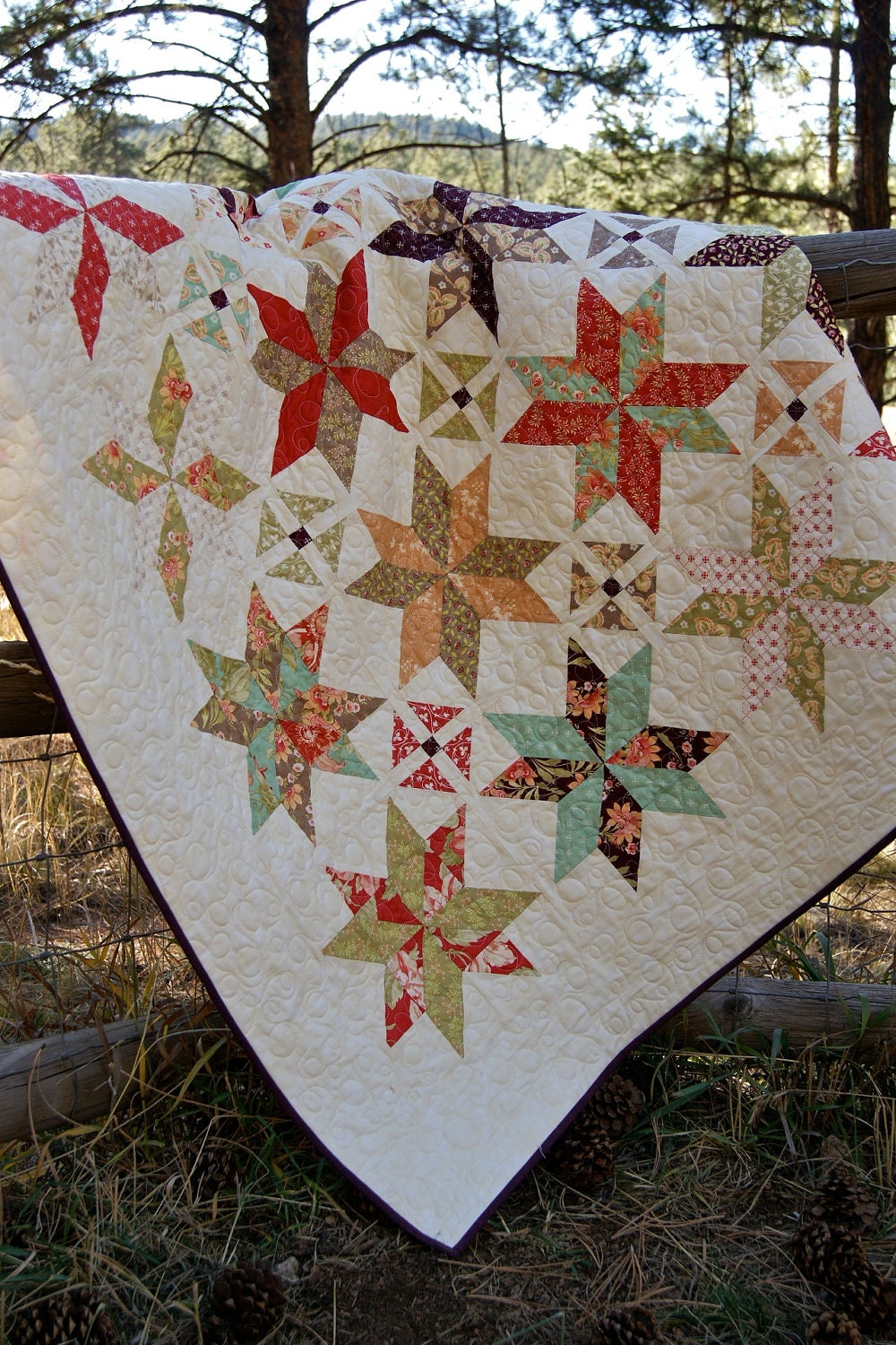 Quilt Patchwork Lap Scrappy Handmade Tapestry Fabrics By Moda