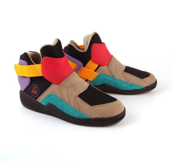 Colorblock Sneakers Shoes Vintage 1980s Rollerblade Metroblade Women's size 7 1/2