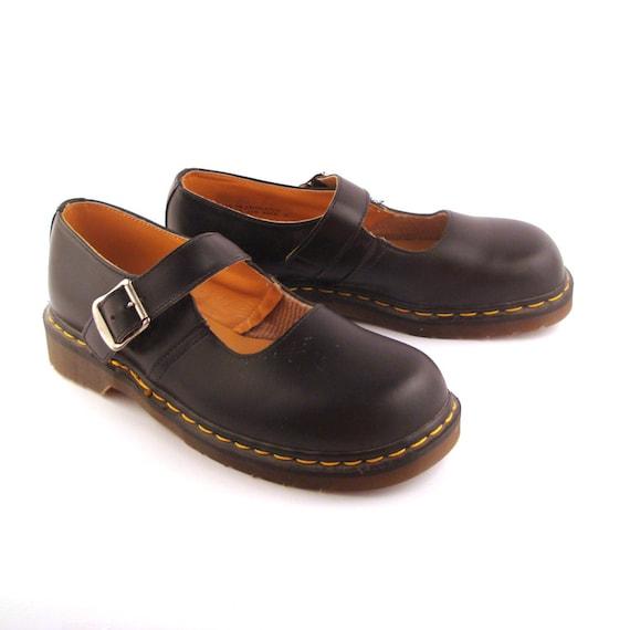 dr martens shoes mary janes 1990 doc black deadstock leather. Black Bedroom Furniture Sets. Home Design Ideas