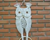 Macrame Owl 'Mother and her baby'