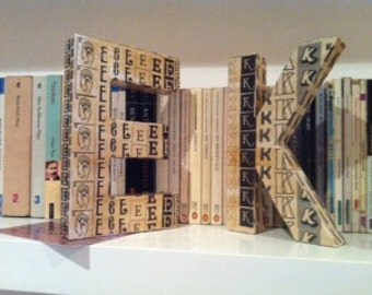 decoupage large 3d letters for hanging on doorswalls or to sit on shelves
