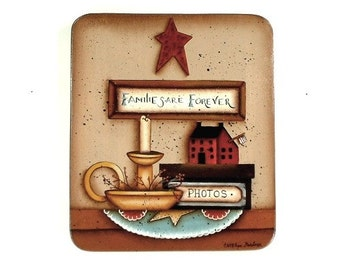 Families Are Forever Hand Painted Wood Plaque 366