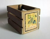 Miniature Chardonnay Wine Crate (1 inch dollhouse scale)