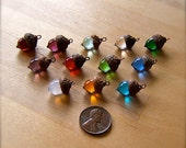Mini Glass Acorn Necklace - Choose your own Birthstone - by Bullseyebeads