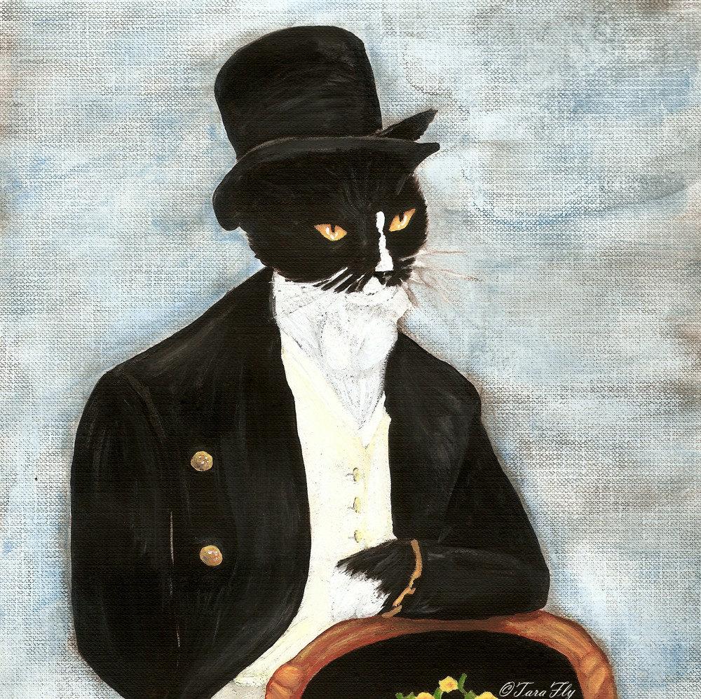 Mr Darcy Cat Art Tuxedo Cat Dressed in Suit Pride and