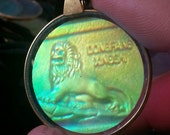 Awesome 1960s Hologram Pendant CHINESE LION Design