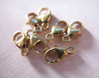 Shop Sale..14k Gold Filled Lobster Claw Clasps, Trigger Clasps only, 5 pcs Bulk, 9.25x5 mm, small petite chains  secure closures
