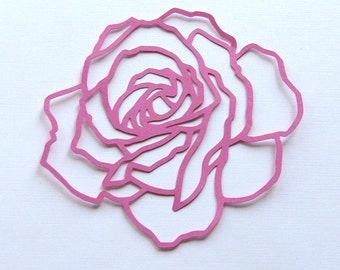 Rose die cut  set of 2
