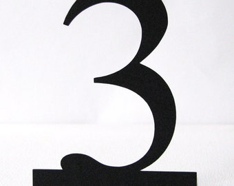 Freestanding table number Die cut 1 to10 in ANY COLOUR