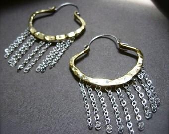 XS  Clam chain fringe in Copper or Bronze