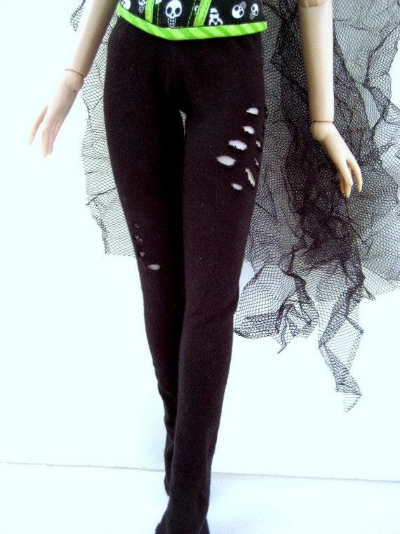 "Zombie yoga leggings for Tonner, Ellowyne, Cami or similar 16"" fashion dolls"