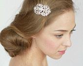 Vintage Silver Bridal Hair Comb, Wedding Hair Comb, Wedding Hair Accessories, Rhinestone Bridal Comb, Crystal Wedding Comb, Pearl Headpiece