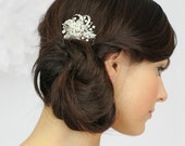 Wedding Hair, Bridal Hair Comb, Vintage Wedding Hair Accessory in White or Ivory, Crystal Wedding Hair Comb- Style 292