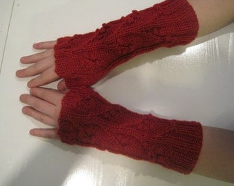 Red Fingerless Gloves