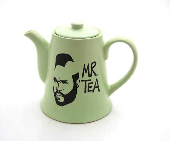 Mr T Tea Teapot in mint green