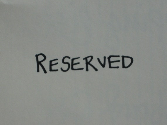 RESERVED LISTING  This Listing Is Reserved