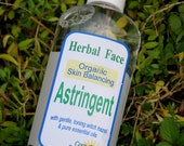 Organic FACIAL ASTRINGENT Toner, with witch hazel and tea tree essential oil