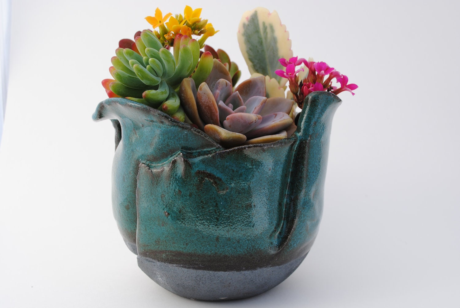 Plant Pot Medium Ceramic Planter Stoneware By Wickedclaygirl