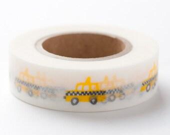 Japanese Washi Masking Tape - Yellow Cab - Yamada