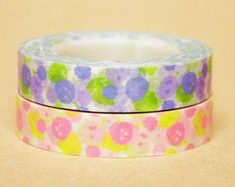 Funtape Masking Tape - Flowers - Slim Set 2