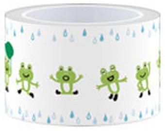 SALE - Funtape Masking Tape - Frogs in Rain - 30mm Wide - 25% off
