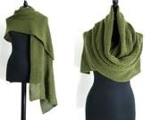 Knitting Pattern Lace Openwork Shawl & Wrap