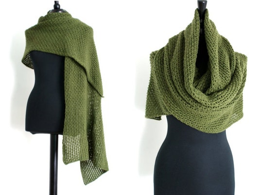 Openwork Lace Knitting Pattern : Knitting Pattern Lace Openwork Shawl & Wrap by ...
