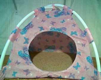 Small Hannah Montana Print Fabric Pup Tent Pet Bed for cats/ dogs/ toy box/ Barbie Doll House