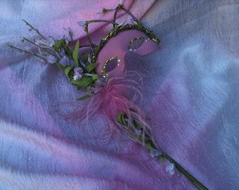 Woodland Mask, Masquerade Mask, Mother Nature Mask, Forest Princess Mask, Custom Design, Mardi Gras, Woodland Wedding, Wedding Mask