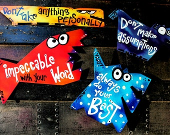 Favorite Quote Magnets: Set of Four Magnets with Four Agreements