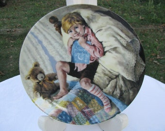 Diddle Diddle Dumpling Limited Collector Plate 1984 Reco by John McClelland  6th issue in the Mother Goose Series