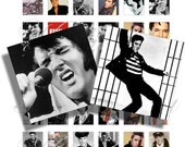 Elvis Presley The King 1x1 inch for pendant, scrapbook and more Digital Collage Sheet No.961