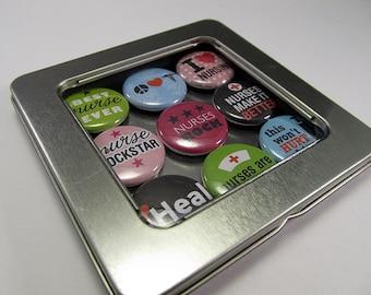 Nurse Magnet Set 1 / Refrigerator Magnets / Locker Magnets / Ready for Gift Giving / 9 Piece Set